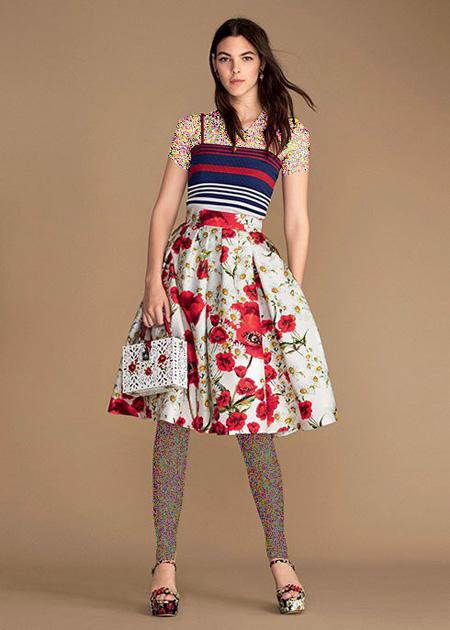 لباس زنانه گلدار برند دی اند جی,مدل لباس بهاری زنانه