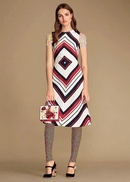 لباس زنانه گلدار برند دی اند جی, مدل لباس بهاری زنانه